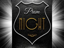 Prom Night Sign On Black Leather