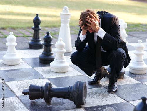 Valokuva  Verzweiflung - Schach matt