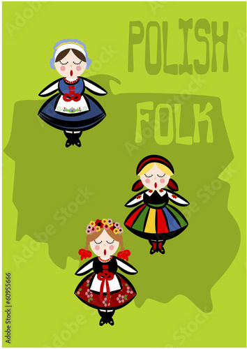 polski-lud-ilustracja-wektorowa