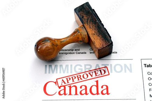 Spoed Foto op Canvas Canada Immigration Canada - approved