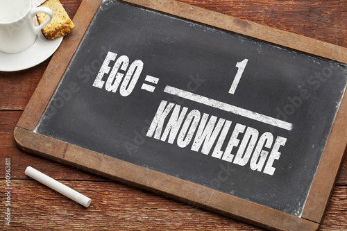 ego and knowledge concept Canvas Print