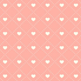 Seamless pink heart pattern on light background.