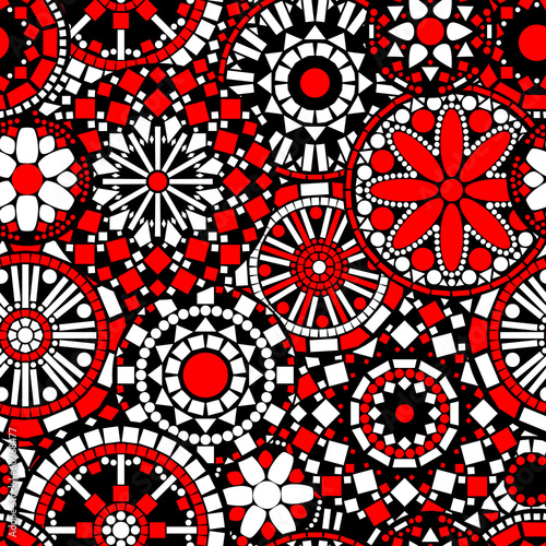 circle-flower-mandalas-seamless-pattern-in-black-white-red
