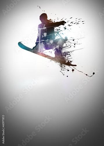 Fotografie, Obraz  Snowboard background