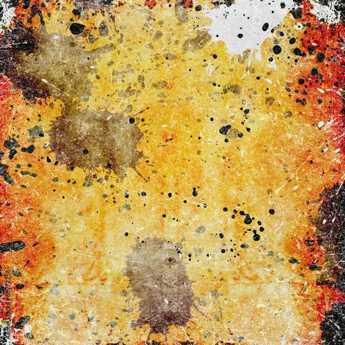 Printed kitchen splashbacks Butterflies in Grunge Abstract color background
