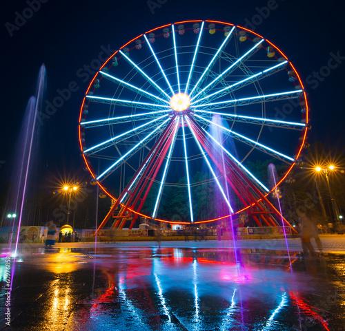 Deurstickers Antwerpen Ferris wheel in Kharkiv
