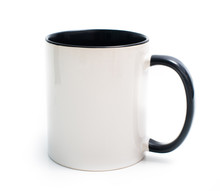 White Cup With A Black Handle
