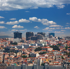 New  and Old districts of Lisbon, Portugal