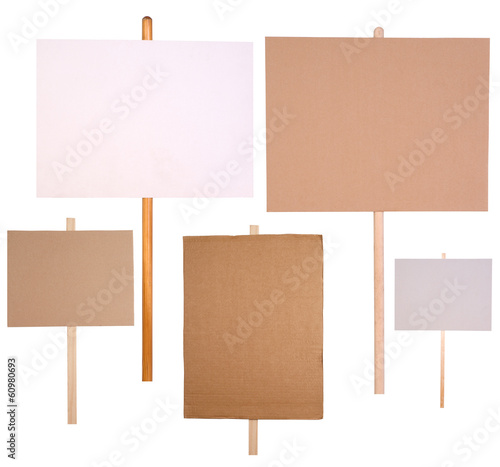 Fototapeta Protest signs isolated on white background obraz