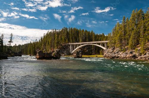 Fotobehang Natuur Park Yellowstone River in Yellowstone National Park