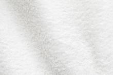 White Cotton Towel Close Up Ba...