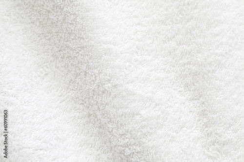 Fényképezés White cotton towel close up background photo texture