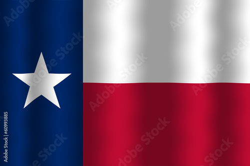 Poster Texas Waving Texas State Flag