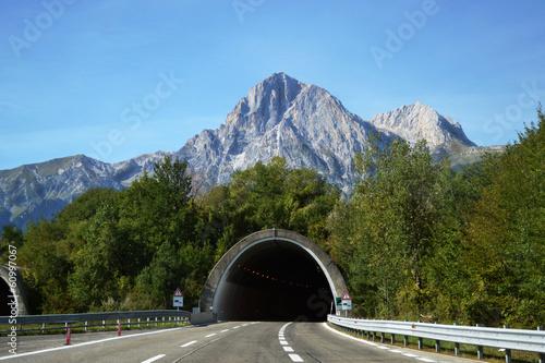Entering a Tunnel Wallpaper Mural