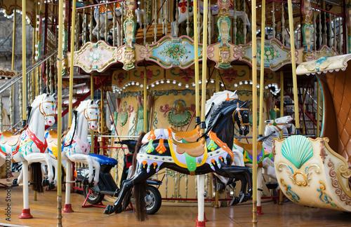 Fotografie, Obraz  Traditional Parisian merry-go-round