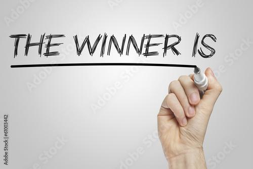 Fotografiet  The winner is