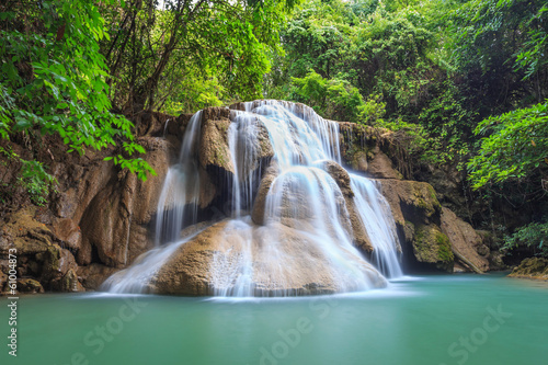 Deurstickers Watervallen Waterfall, Kanchanaburi, Thailand