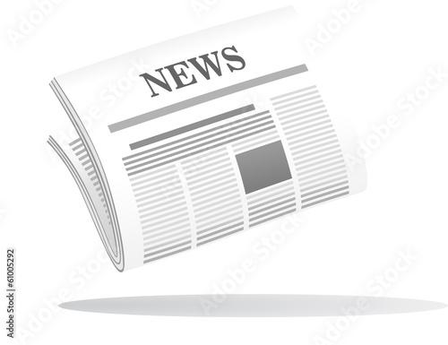 Fotografia Folded newspaper with the header News