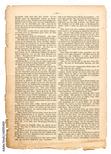 grunge page of undefined antique book with german text Tableau sur Toile