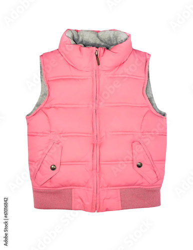 Fotografía Pink vest isolated on white.