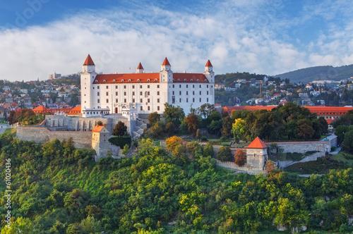 Foto op Plexiglas Kasteel Bratislava castle at evening, Slovakia