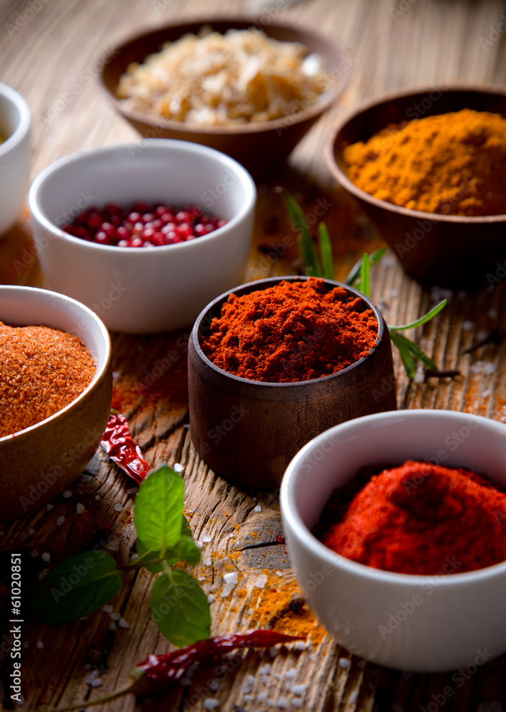 Fototapety, obrazy: Assorted spices
