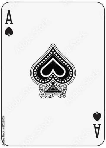 Photo  Ace of spade playing card