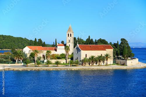 Fotografie, Obraz  Vis town on island in Croatia