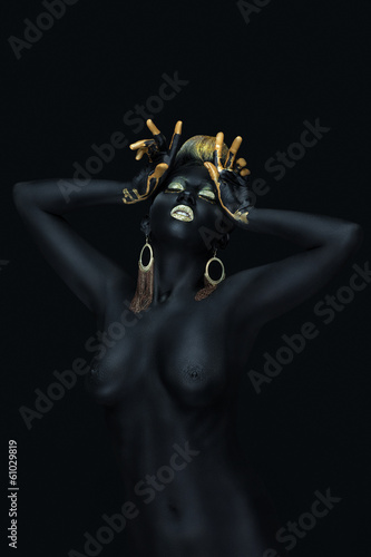 woman as an expensive black pearl