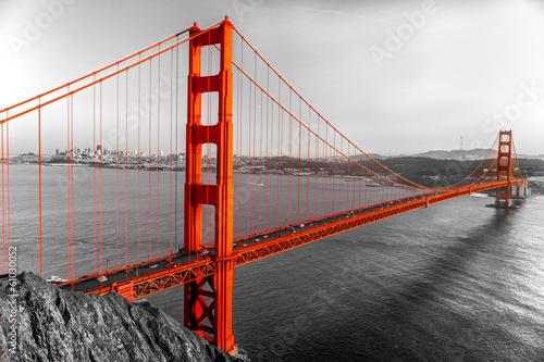Fotobehang Bruggen Golden Gate, San Francisco, California, USA.