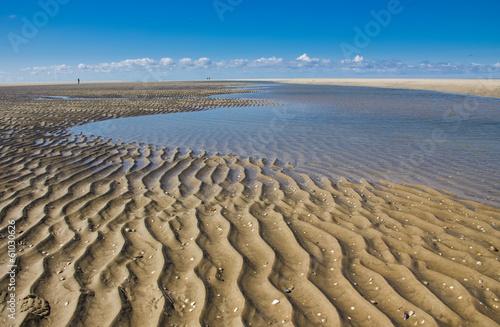 Spoed Foto op Canvas Noordzee Watt