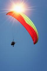 Fototapeta Lotnia paragliding blue