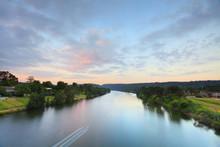 Rural River Sunrise Morning La...