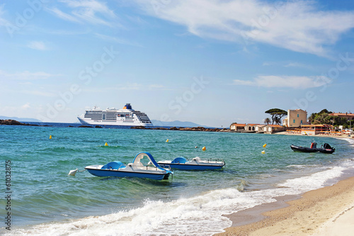 Meer Strand Saint Tropez Frankreich Buy This Stock Photo And
