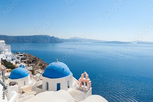 Fotografie, Obraz  Church domes in Oia Santorini