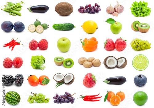 Poster  Früchte und Gemüse