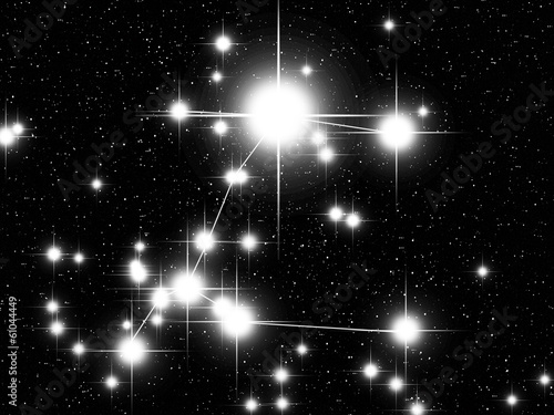 Canis Maior constellation with Sirius Wallpaper Mural