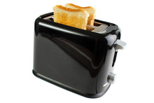 Black Toaster With Bread Slice...