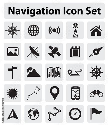 Valokuva  Navigation icon set