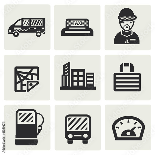 Obraz na plátně  Transport and building icons,vector
