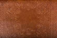 Leather Floral Pattern Backgro...