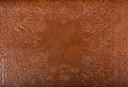 Leather floral pattern background close up Wallpaper Mural