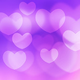 texture, abstract background is the heart in love bokeh light fo