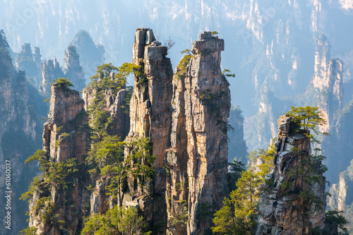 Autocollant pour porte Chine Zhangjiajie National forest park China