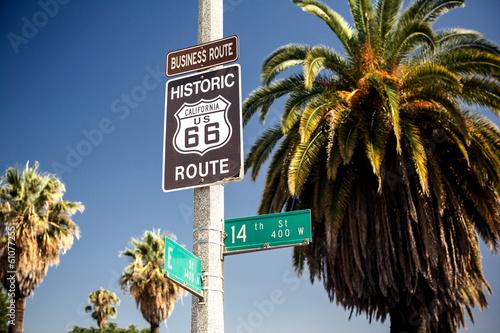 Papiers peints Route 66 Historic route 66 highway sign