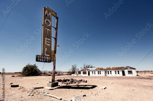 Papiers peints Route 66 Hotel sign ruin along historic Route 66