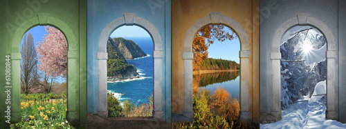 Fotografie, Obraz  Vier Jahreszeiten -  Collage 4