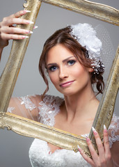 Naklejka Bride and frame
