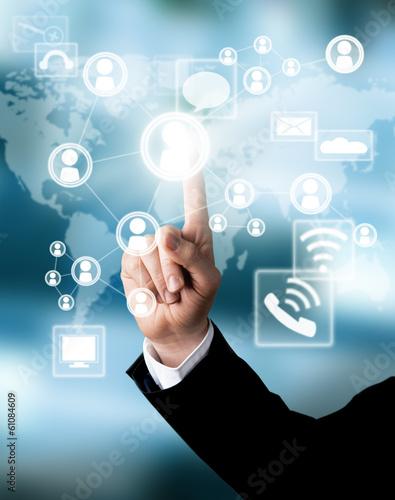 Fotografie, Obraz  Business concept with virtual scheme