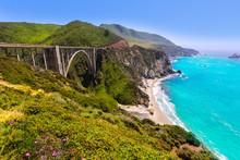California Bixby Bridge In Big Sur Monterey County In Route 1